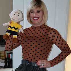 Charlie Brown and I Having More Fun With Polka Dots!
