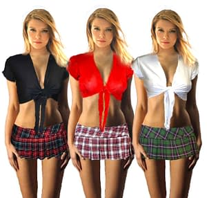 School Girl Tie Top