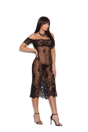 Tea Length Lace Gown