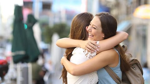 Two transgender women hugging