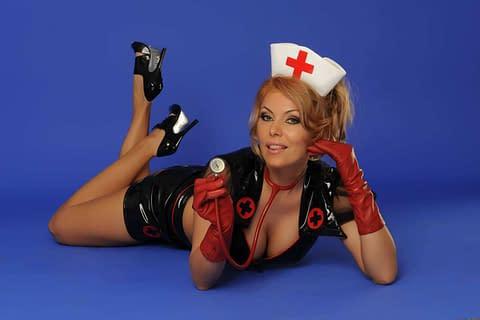 Sexy crossdressing nurse