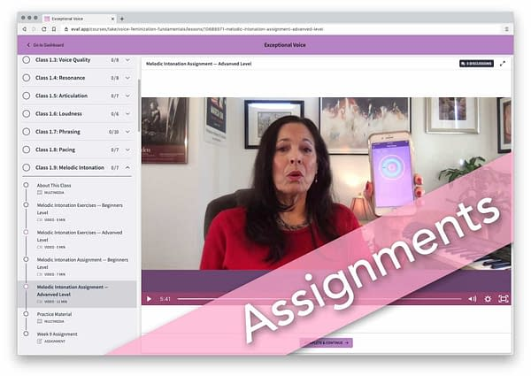 Exceptional Voice - Assignments-cdh