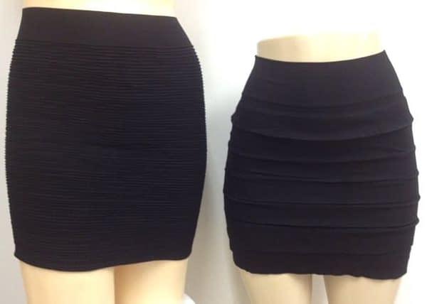 Two Pack Black Mini Skirts