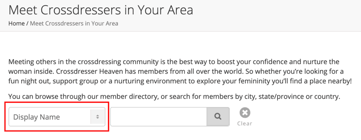 Find Crossdresser Friends by City