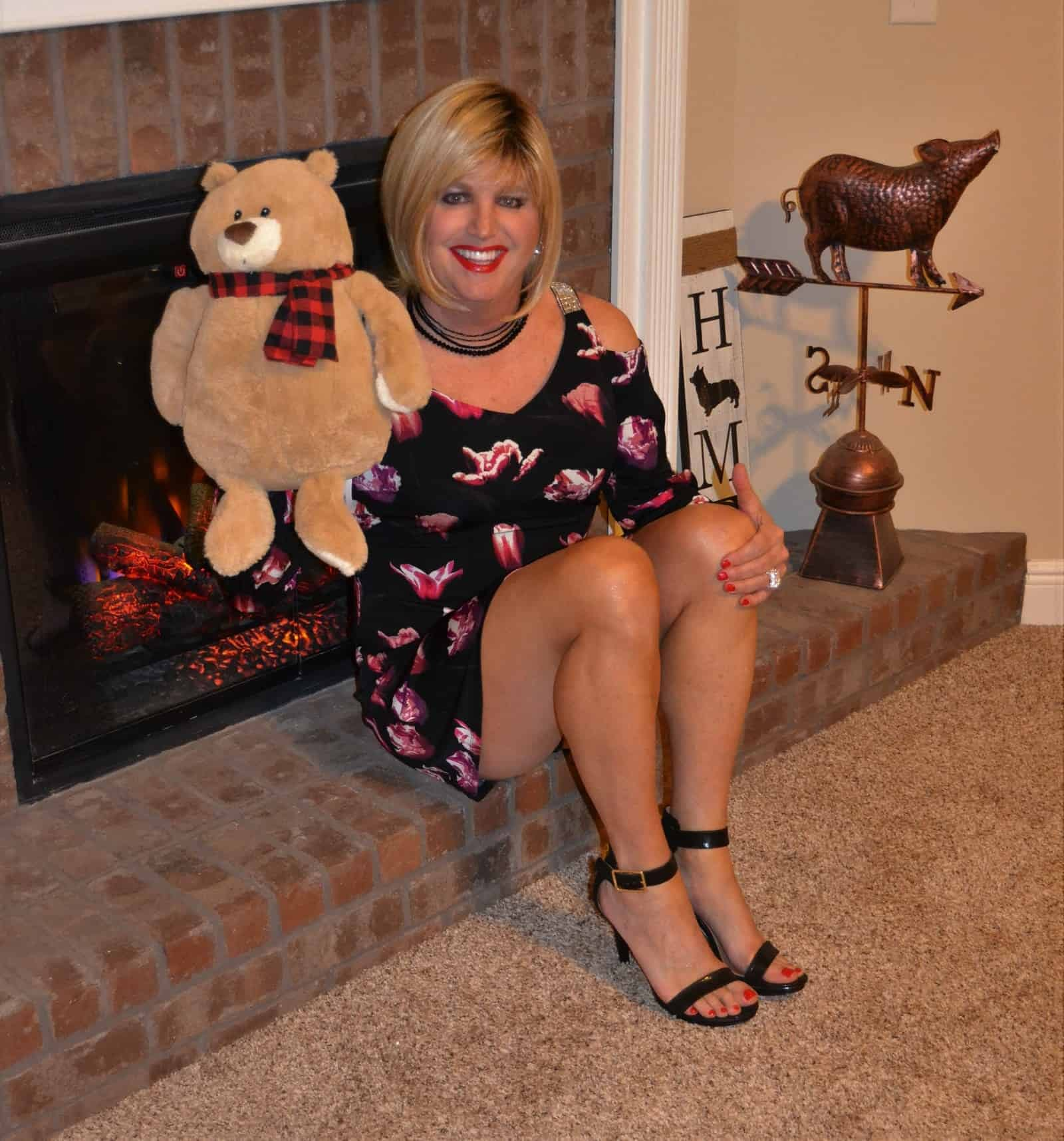 My Clearance Dress And My Teddy!