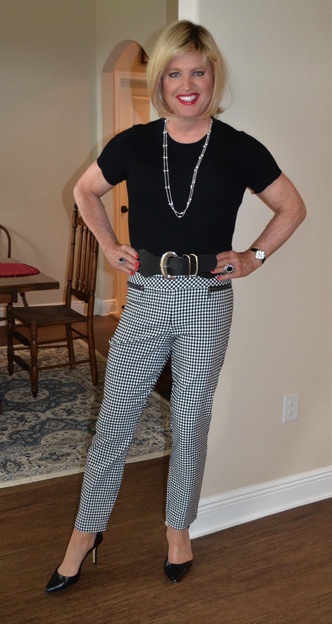 Scarletts Second Try With High Waisted Skinny Slacks