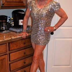 The Super Short Silver Dress One More Time!