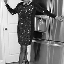 Scarlett loves sequined dresses!
