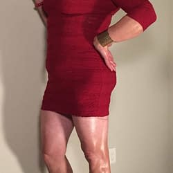 "Another pic from last week's ""lady in red"" photoshoot"