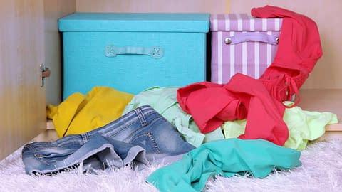 Crossdressing clothes in the closet