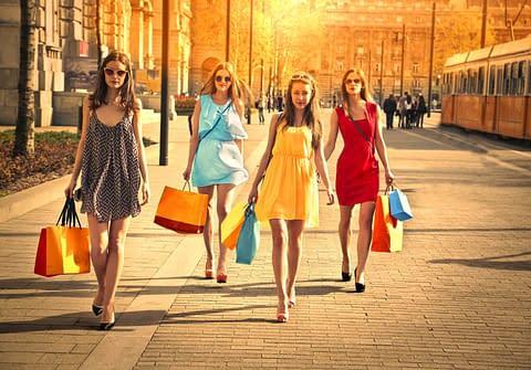 Transgender women shopping on black friday