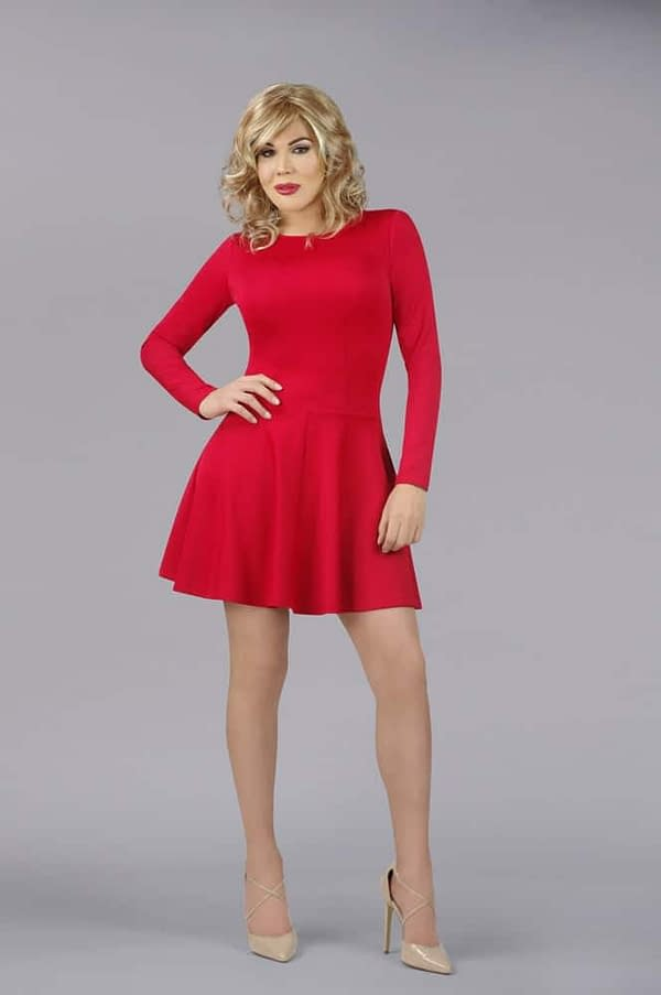 The En Femme Party Swing Dress In Red