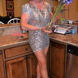 The Short Silver Dress Again!