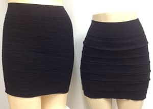 Two Pack Black Mini Skirts