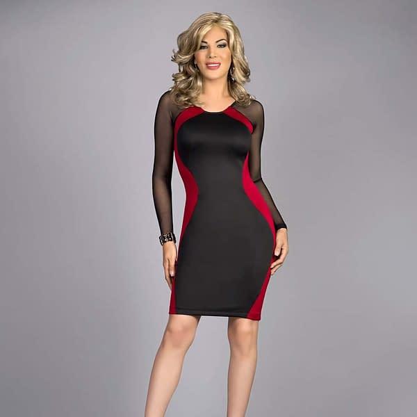 Hourglass Body Contour Dress In Scarlett Red