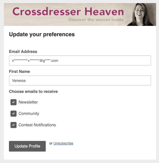 Crossdresser Newsletter Management